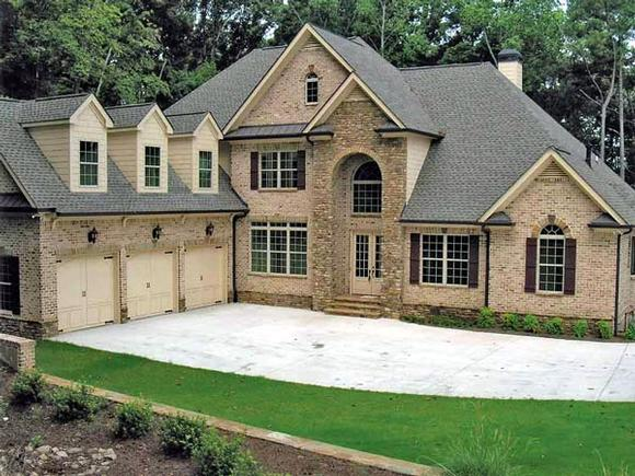 European House Plan 50251 with 4 Beds, 5 Baths, 3 Car Garage Elevation