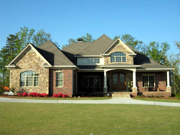 European House Plan 50252 with 3 Beds, 4 Baths, 3 Car Garage Elevation