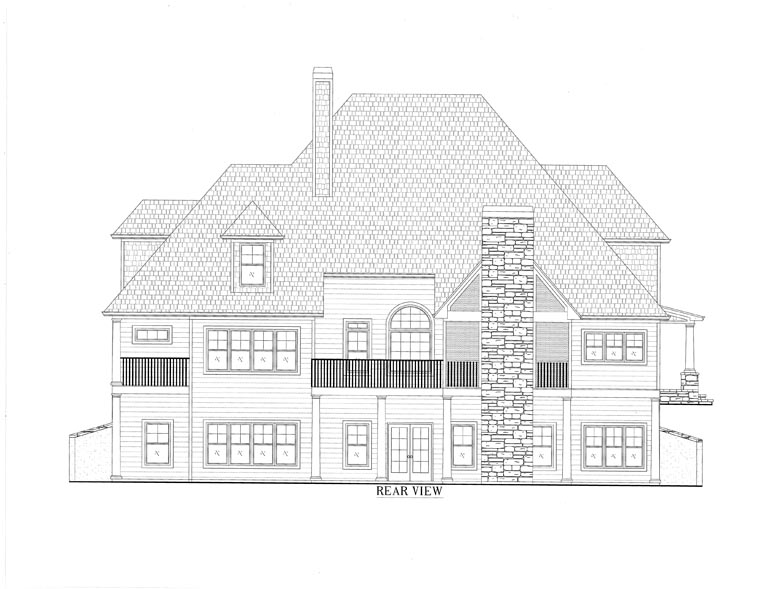 European Southern Traditional House Plan 50254 Rear Elevation