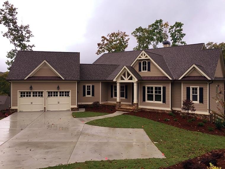 Craftsman, Farmhouse House Plan 50257 with 3 Beds, 3 Baths, 2 Car Garage Elevation