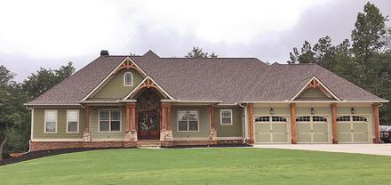 Craftsman Ranch Traditional Elevation of Plan 50264
