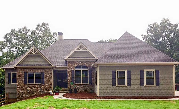 Country Craftsman Traditional House Plan 50266 Elevation