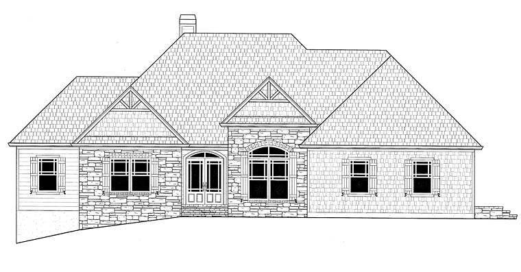 Country Craftsman Traditional House Plan 50266
