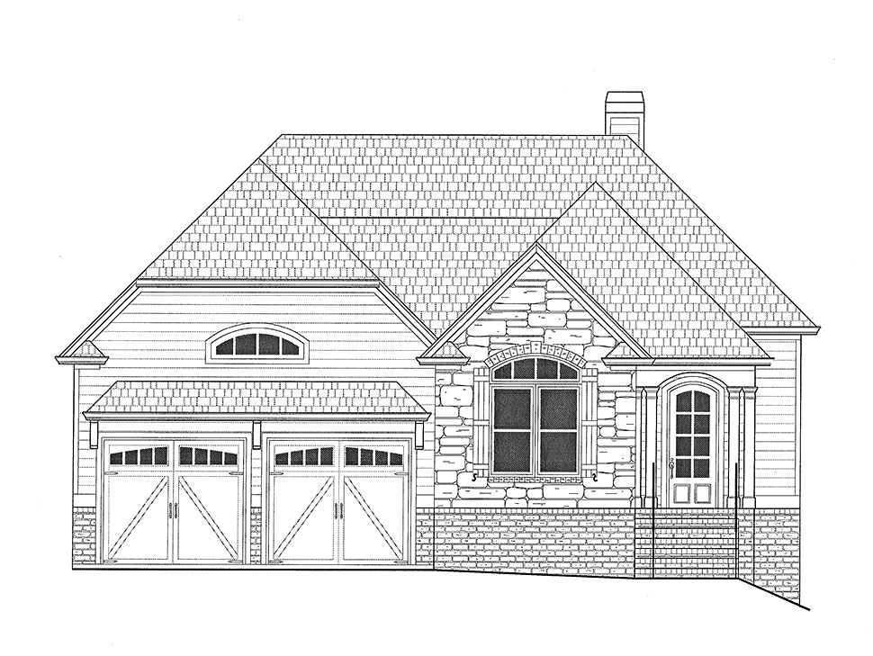 Traditional House Plan 50279 with 3 Beds, 4 Baths, 2 Car Garage Picture 22