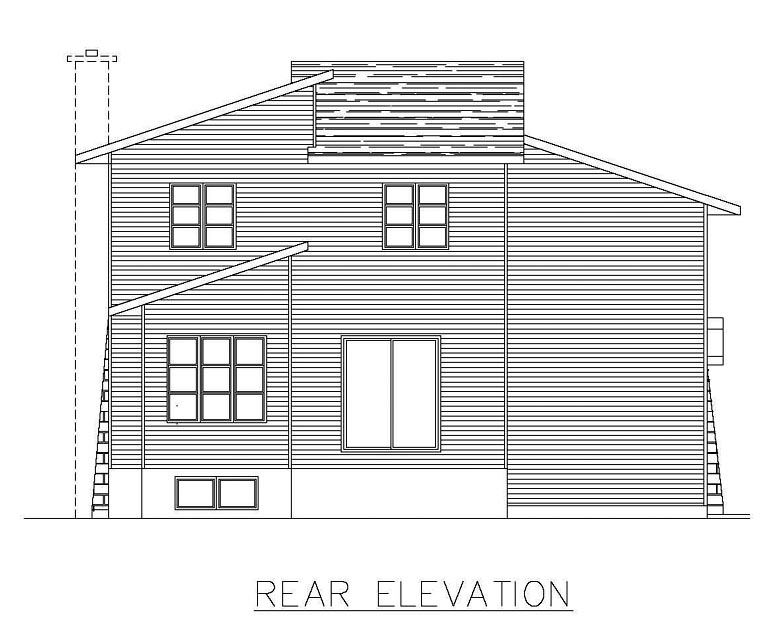 Contemporary House Plan 50304 Rear Elevation