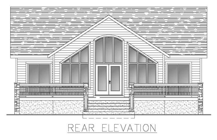 House Plan 50309 Rear Elevation