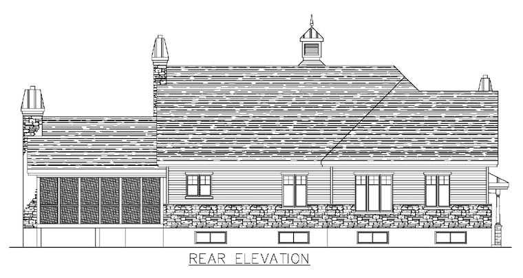 Colonial House Plan 50313 Rear Elevation