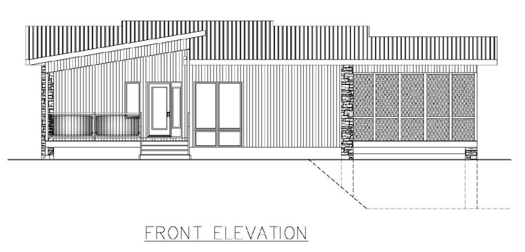 Contemporary Modern House Plan 50324 Rear Elevation
