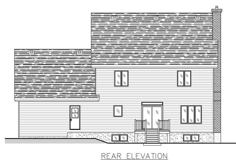 House Plan 50326 Rear Elevation