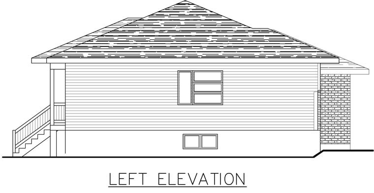 Contemporary House Plan 50339 with 2 Beds, 2 Baths, 1 Car Garage Picture 2