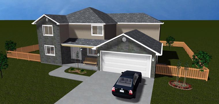 House Plan 50411 with 6 Beds, 4 Baths, 2 Car Garage Picture 9