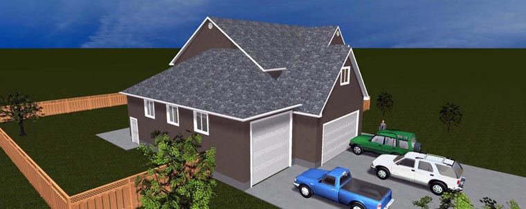 House Plan 50422 with 6 Beds, 5 Baths, 4 Car Garage Elevation