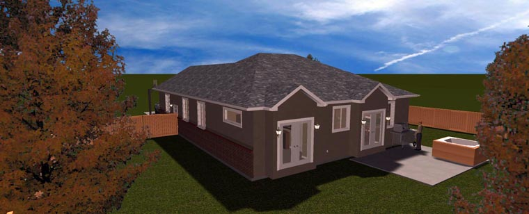 House Plan 50442 with 5 Beds, 3 Baths, 2 Car Garage Picture 11