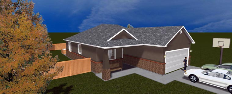 House Plan 50442 with 5 Beds, 3 Baths, 2 Car Garage Picture 9