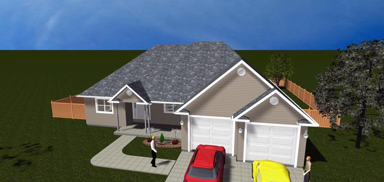 House Plan 50443 with 5 Beds, 3 Baths, 2 Car Garage Picture 11