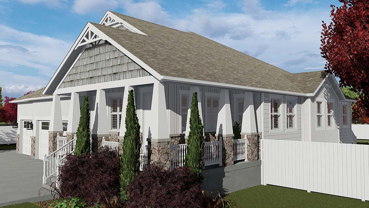 Craftsman House Plan 50526 with 7 Beds, 5 Baths, 3 Car Garage Picture 1