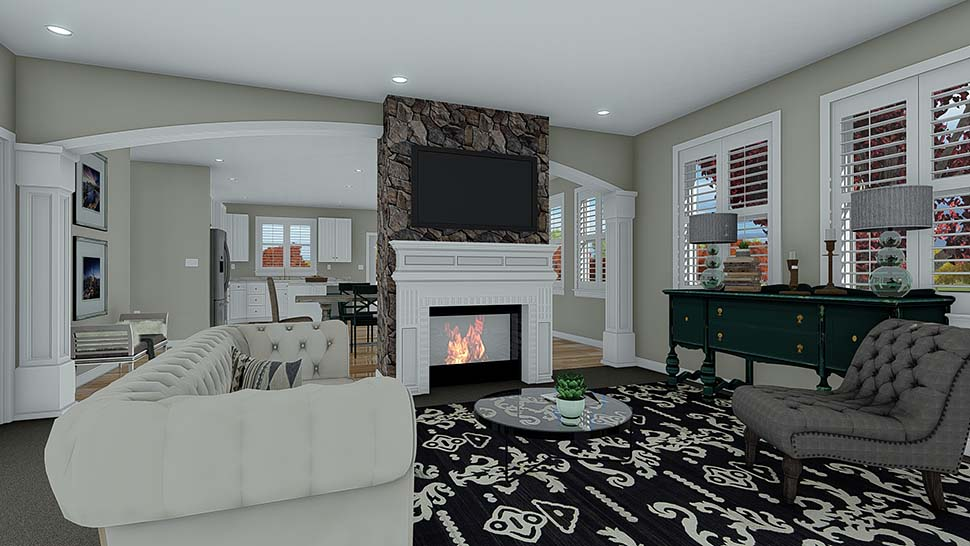 Craftsman House Plan 50526 with 7 Beds, 5 Baths, 3 Car Garage Picture 7