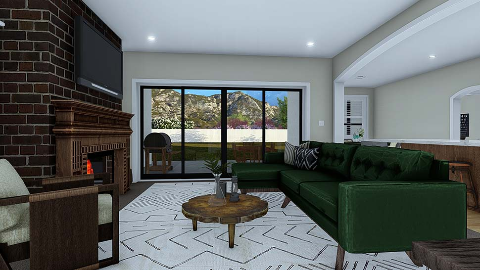 Ranch, Traditional House Plan 50529 with 4 Beds, 3 Baths, 2 Car Garage Picture 8