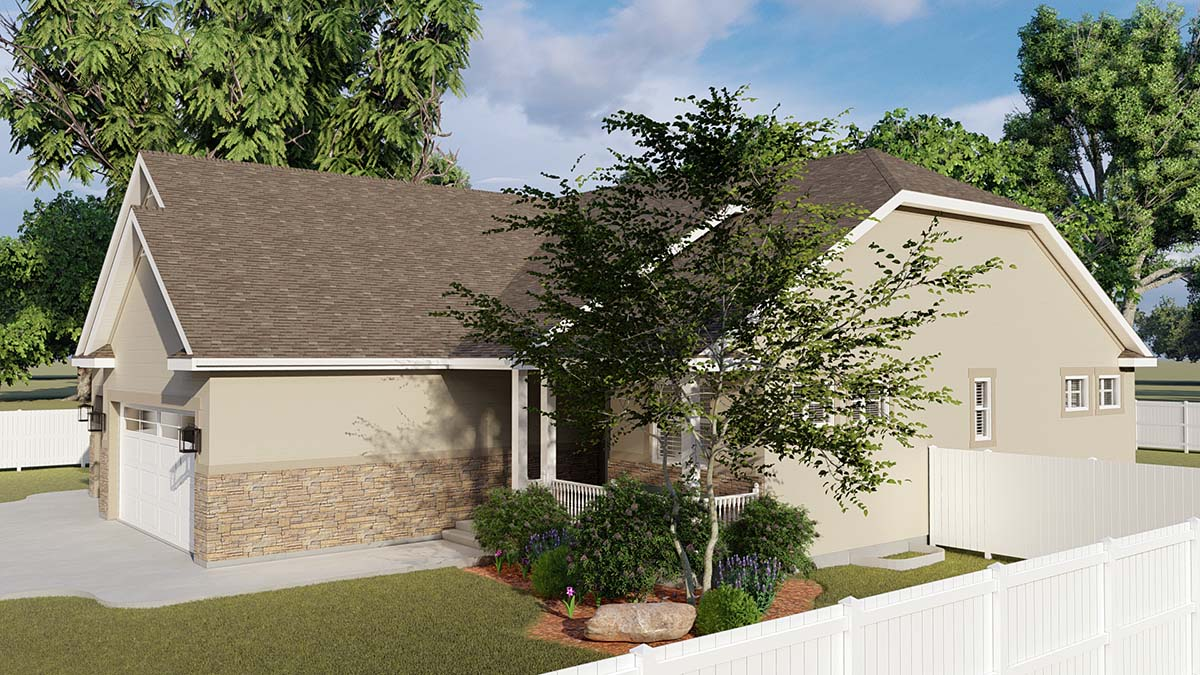 Traditional House Plan 50530 with 6 Beds, 4 Baths, 3 Car Garage Picture 1
