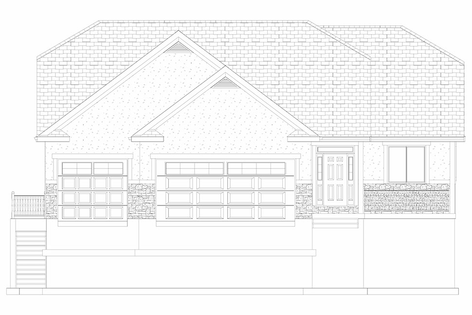 Traditional House Plan 50530 with 6 Beds, 4 Baths, 3 Car Garage Picture 25