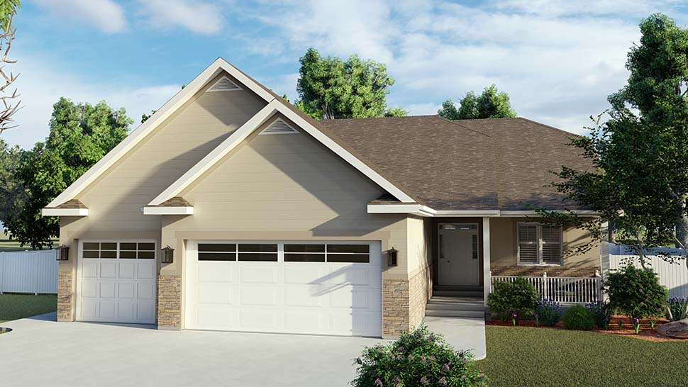 Traditional House Plan 50530 with 6 Beds, 4 Baths, 3 Car Garage Picture 3