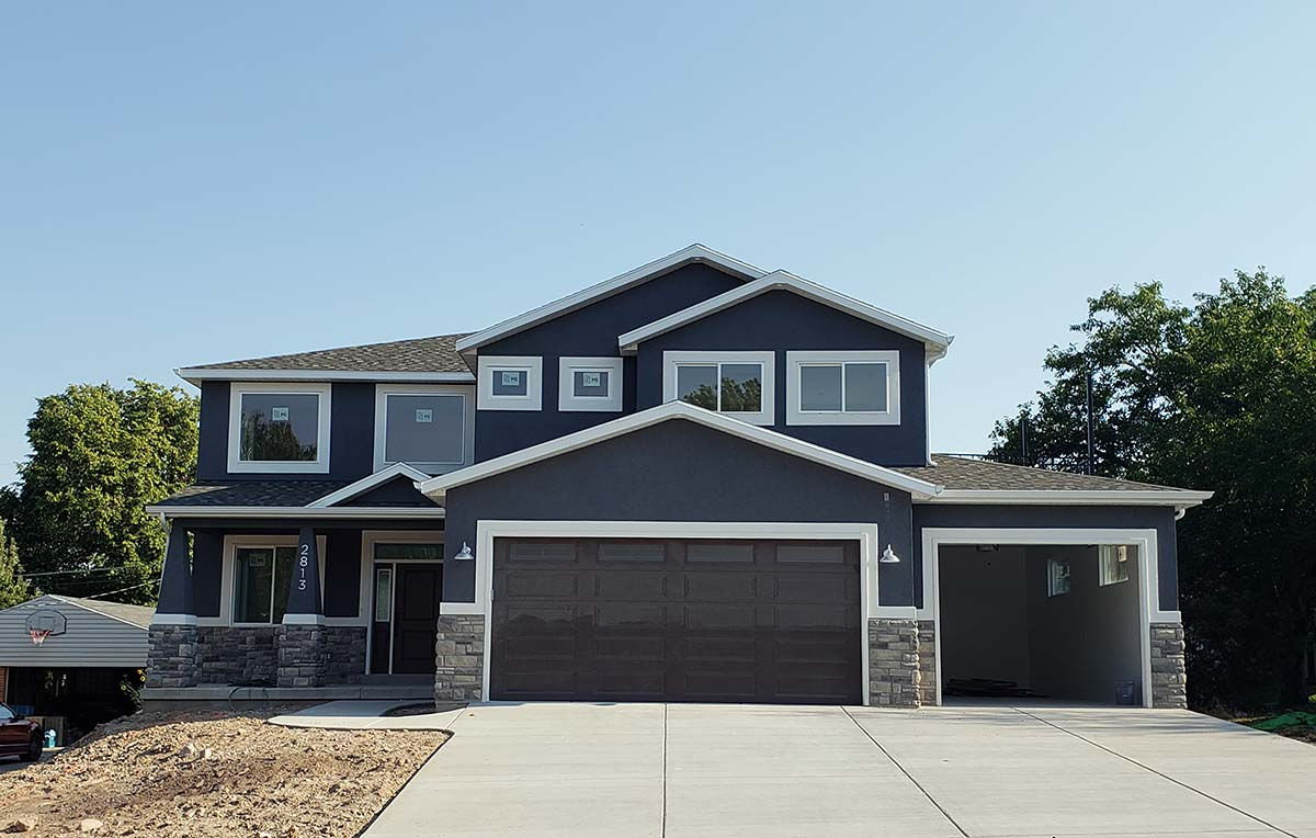 Craftsman, Traditional House Plan 50533 with 6 Beds, 4 Baths, 3 Car Garage Elevation