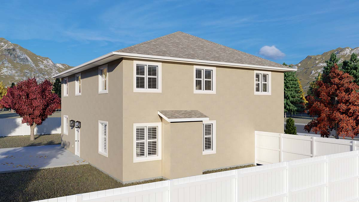 Traditional House Plan 50535 with 4 Beds, 2 Baths, 2 Car Garage Picture 2