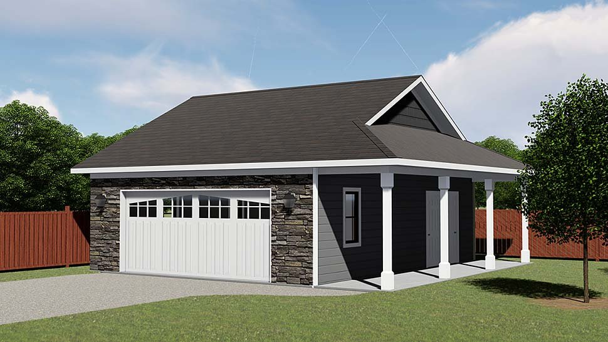 2 Car Garage Plan 50618 Elevation