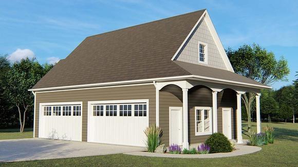 4 Car Garage Apartment Plan 50629 Elevation