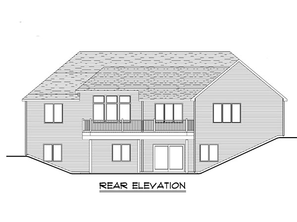 Craftsman, Ranch, Traditional House Plan 50641 with 3 Beds, 2 Baths, 3 Car Garage Rear Elevation