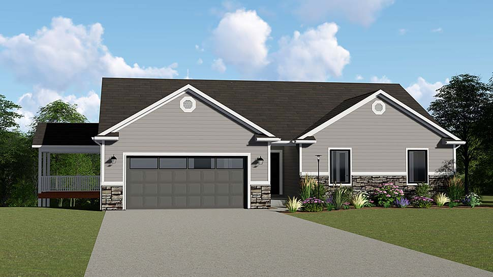 Ranch Traditional House Plan 50646 Elevation