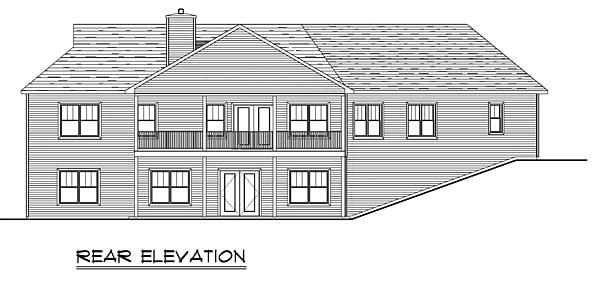 Craftsman Ranch House Plan 50647 Rear Elevation