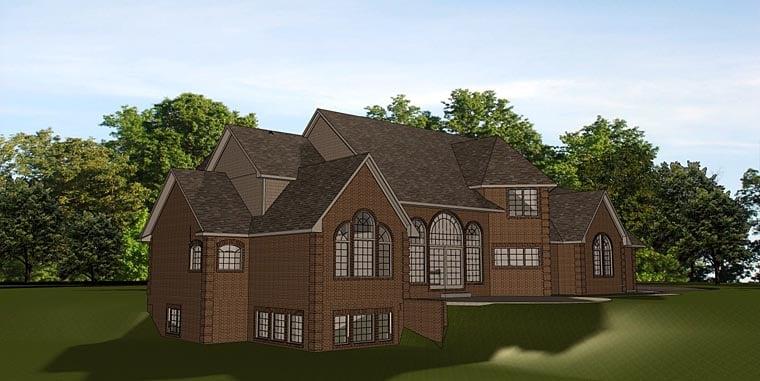 European Traditional House Plan 50667 Rear Elevation