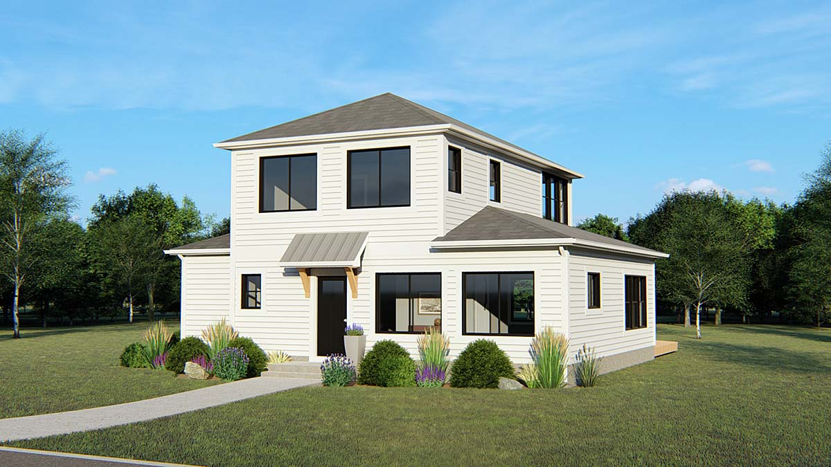 Colonial Contemporary Traditional House Plan 50688 Elevation