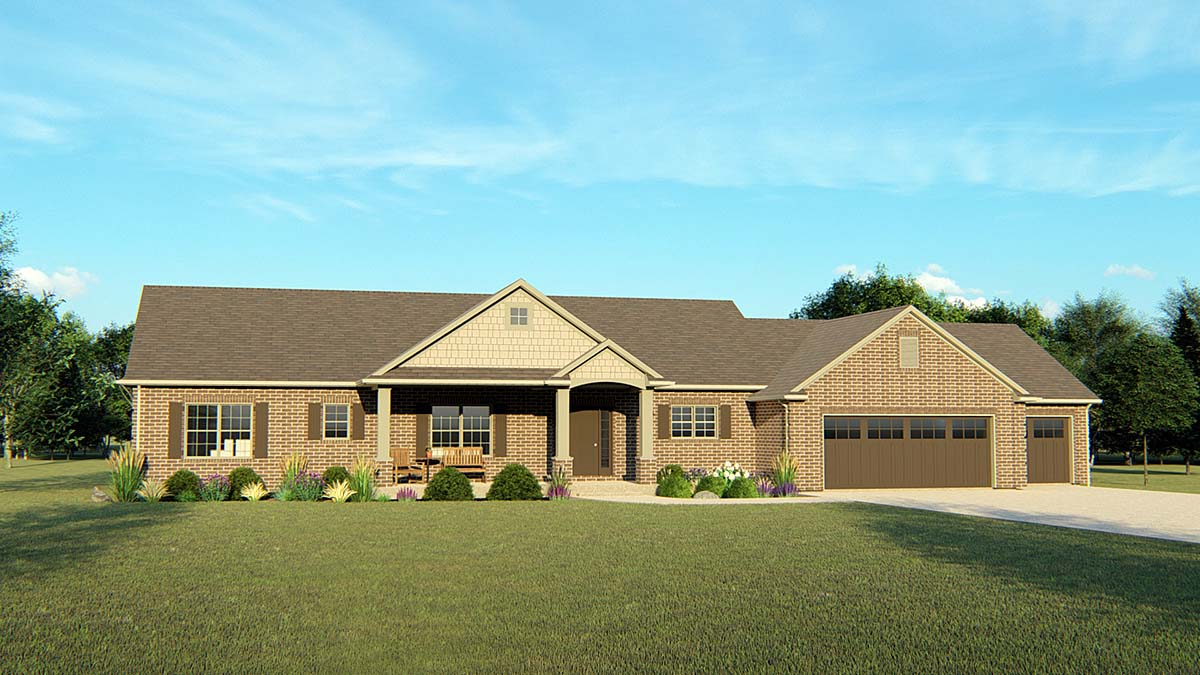 Ranch Traditional House Plan 50691 Elevation