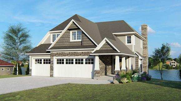Bungalow, Cottage, Craftsman, Southern, Traditional House Plan 50692 with 5 Beds, 5 Baths, 3 Car Garage Elevation