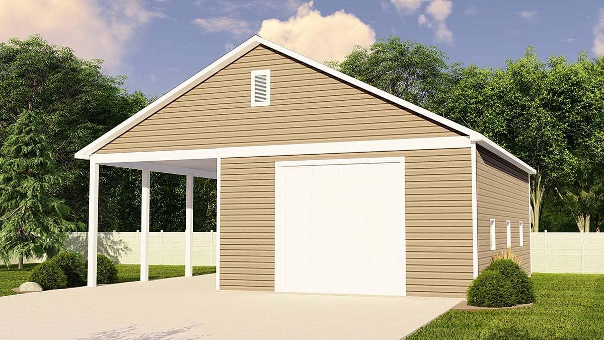 Traditional Garage Plan 50694 Elevation
