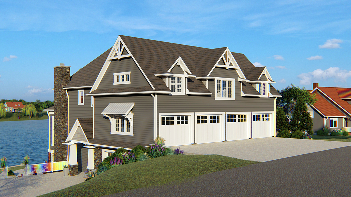 Coastal Traditional House Plan 50700 Rear Elevation