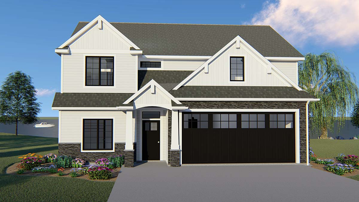 Bungalow Craftsman Traditional House Plan 50706 Elevation