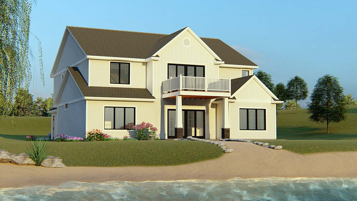 Bungalow Craftsman Traditional House Plan 50706 Rear Elevation