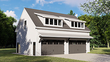 Colonial Contemporary Elevation of Plan 50707