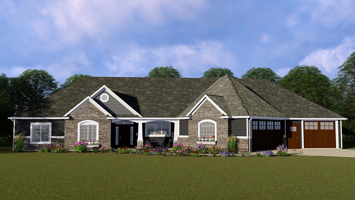 Ranch Traditional House Plan 50740 Elevation