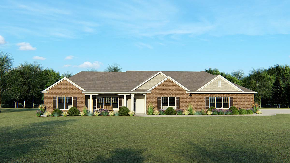 Ranch Traditional House Plan 50744 Elevation