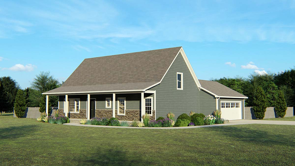 Country Traditional House Plan 50747 Elevation