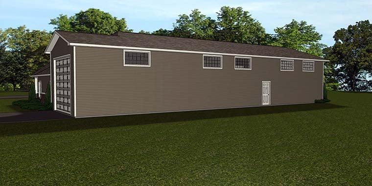 Traditional 4 Car Garage Apartment Plan 50763 Rear Elevation