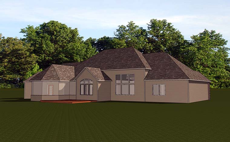 Country European House Plan 50766 Rear Elevation