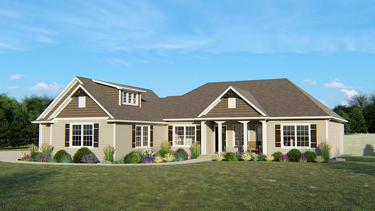European Traditional House Plan 50767 Elevation