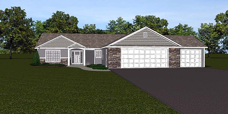 Ranch Style House Plan 50785 with 3 Bed, 3 Bath, 3 Car Garage on 2 story ranch home plans, open floor plan ranch home plans, single level ranch home plans, daylight basement ranch home plans, 3 car garage log home, 3 bedroom ranch home plans,