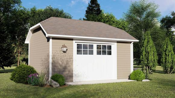 Country 1 Car Garage Plan 50790 Elevation