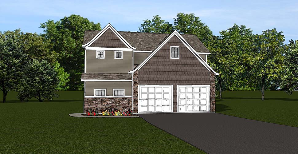 2 Car Garage Apartment Plan 50792 Elevation